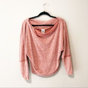 Free People Red Hacci Pullover Sweater